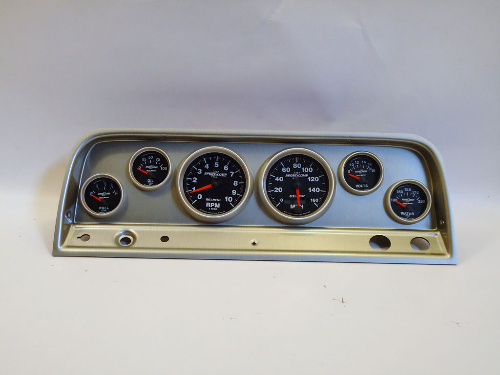 64-66 Chevy Truck Dash Panel w/ Sport Comp II Gauges | 130-64-