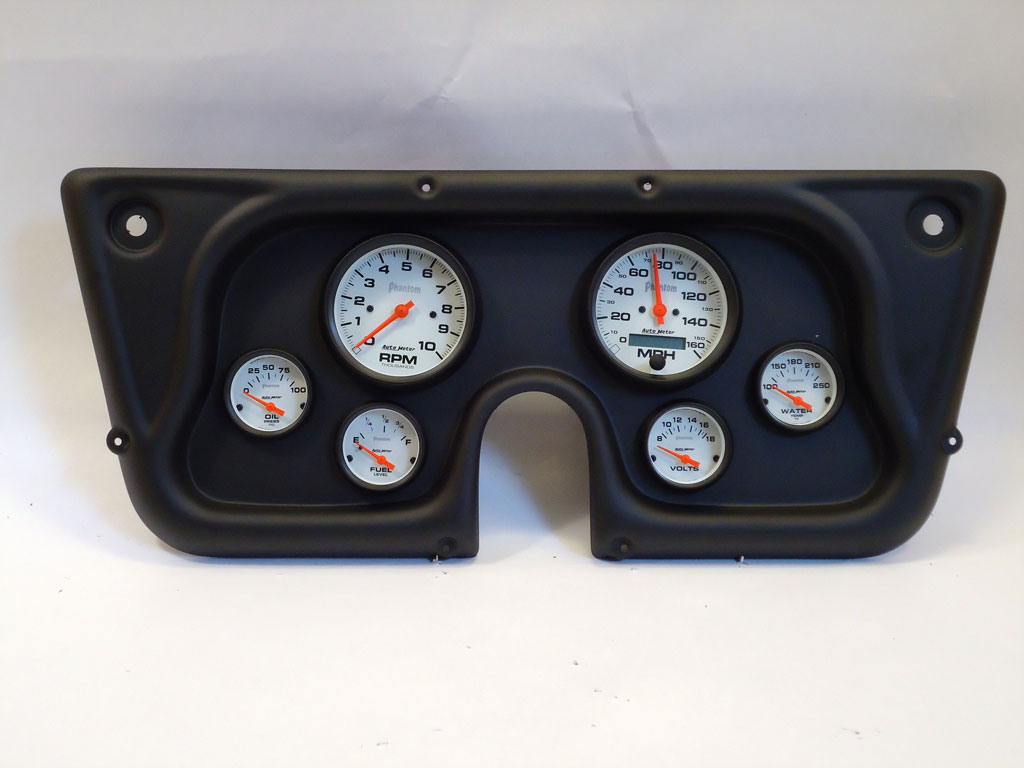 67 72 Chevy Truck Dash Panel w Phantom Electric Gauges