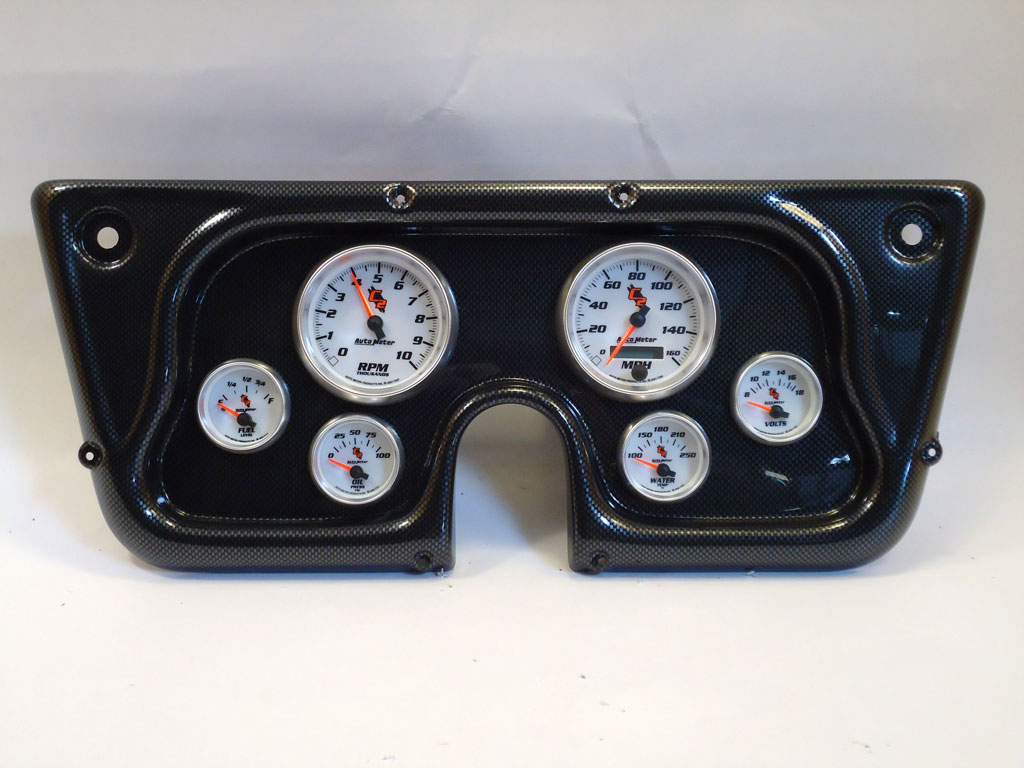 67 72 Chevy Truck Dash Panel W C2 Gauges 130 Wiring