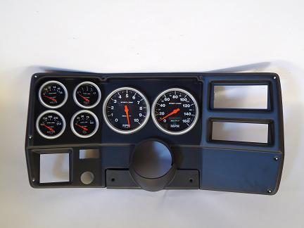 73-83 Chevy Truck Dash Panel w/ 5 Inch Sport Comp Mechanical Gauges