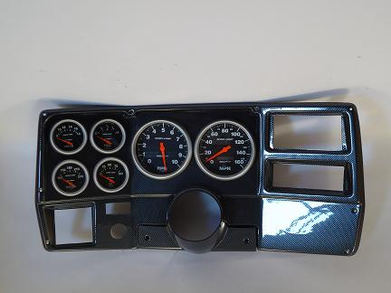 84 87 Chevy Truck Dash Panel W 5 In Sport Comp
