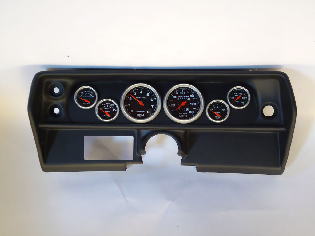 68 Nova Dash Panel W   Sport Comp Electric Gauges