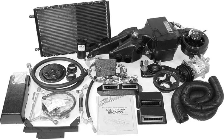 66 77 Ford Bronco Vintage Air Surefit System A C
