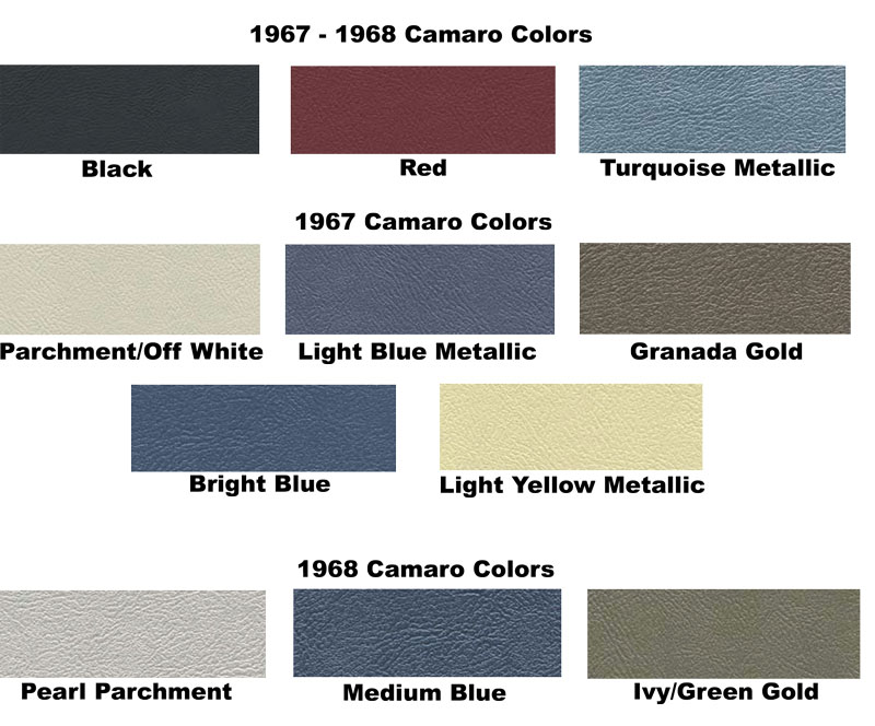 68 Camaro Interior Colors Related Keywords Amp Suggestions
