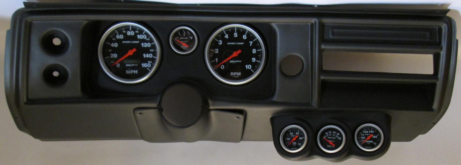 68 Chevelle / El Camino Thunder Road Dash Panel w/ Sport Comp ...