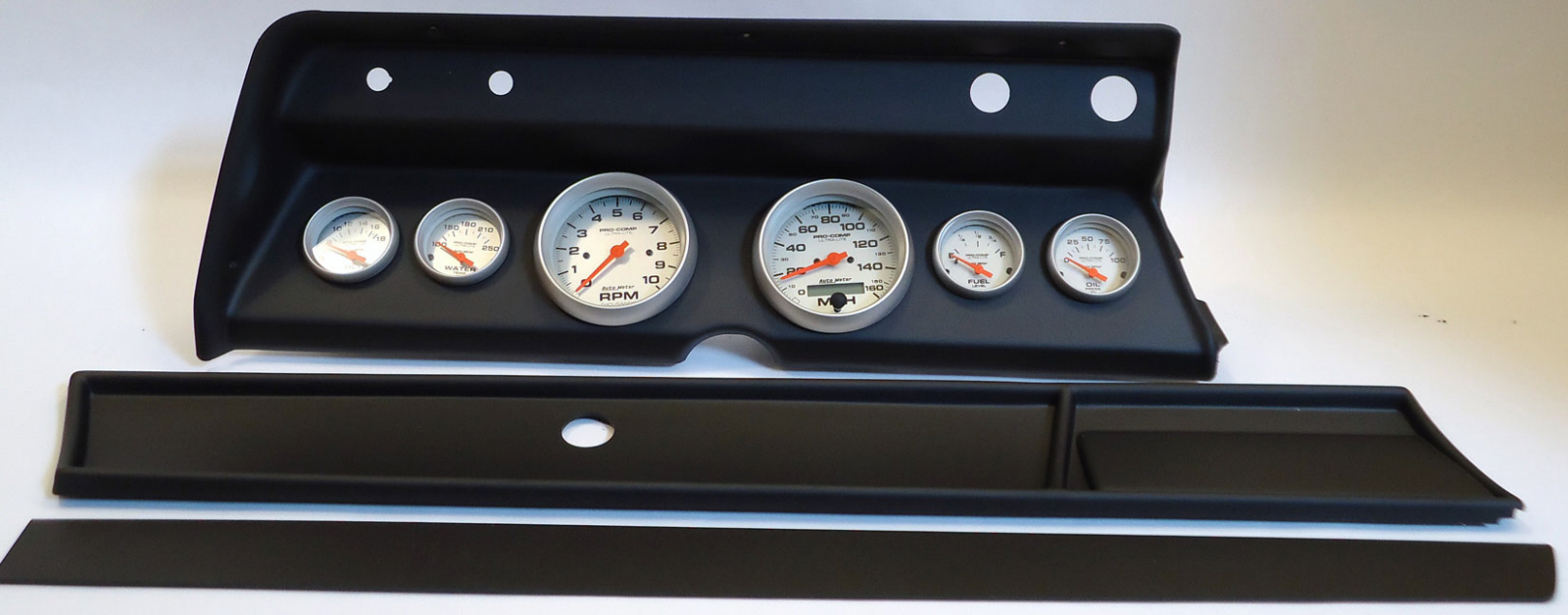 66 Chevelle Dash Carrier Panel With Auto Meter Ultra Lite