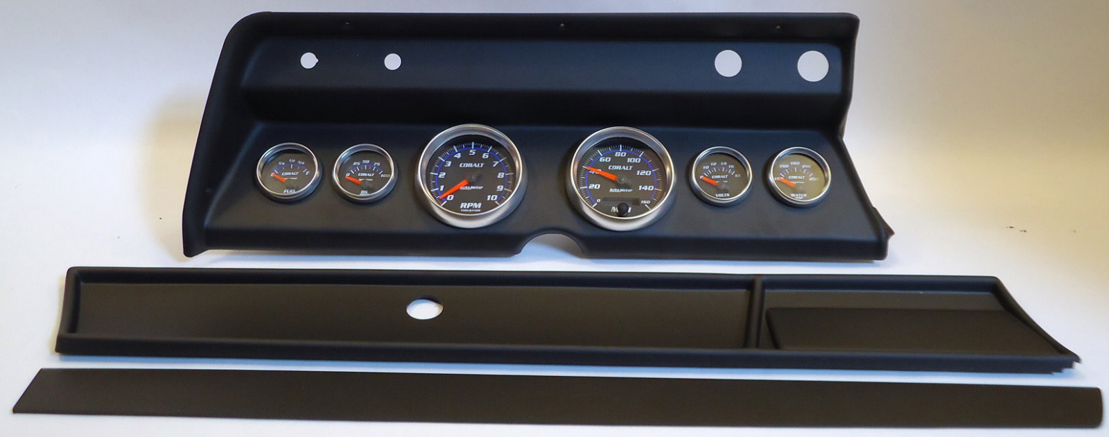 66 Chevelle Dash Carrier Panel With Auto Meter Cobalt