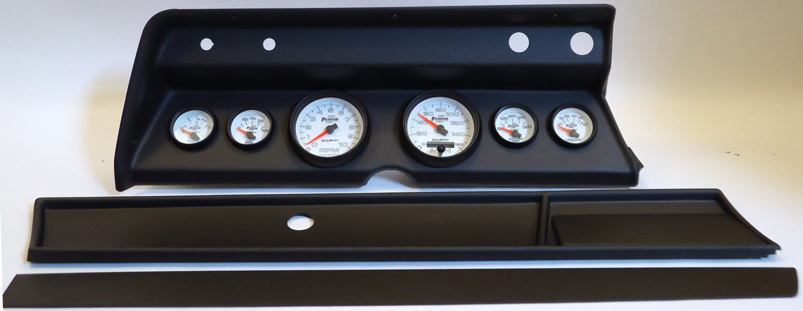66 Chevelle Dash Carrier Panel With Auto Meter Sport Comp
