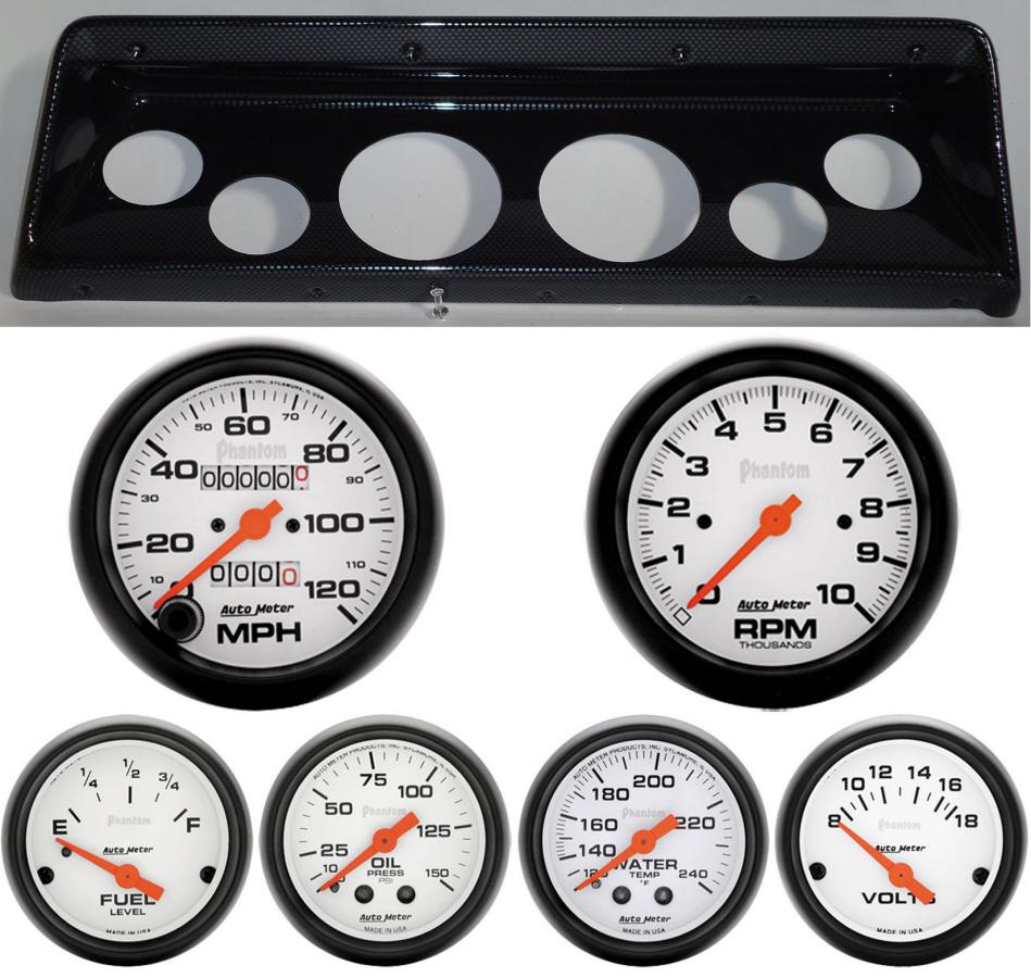 66-67 Nova Classic Thunder Road Dash Panel w/ Phantom Mechanical Gauges