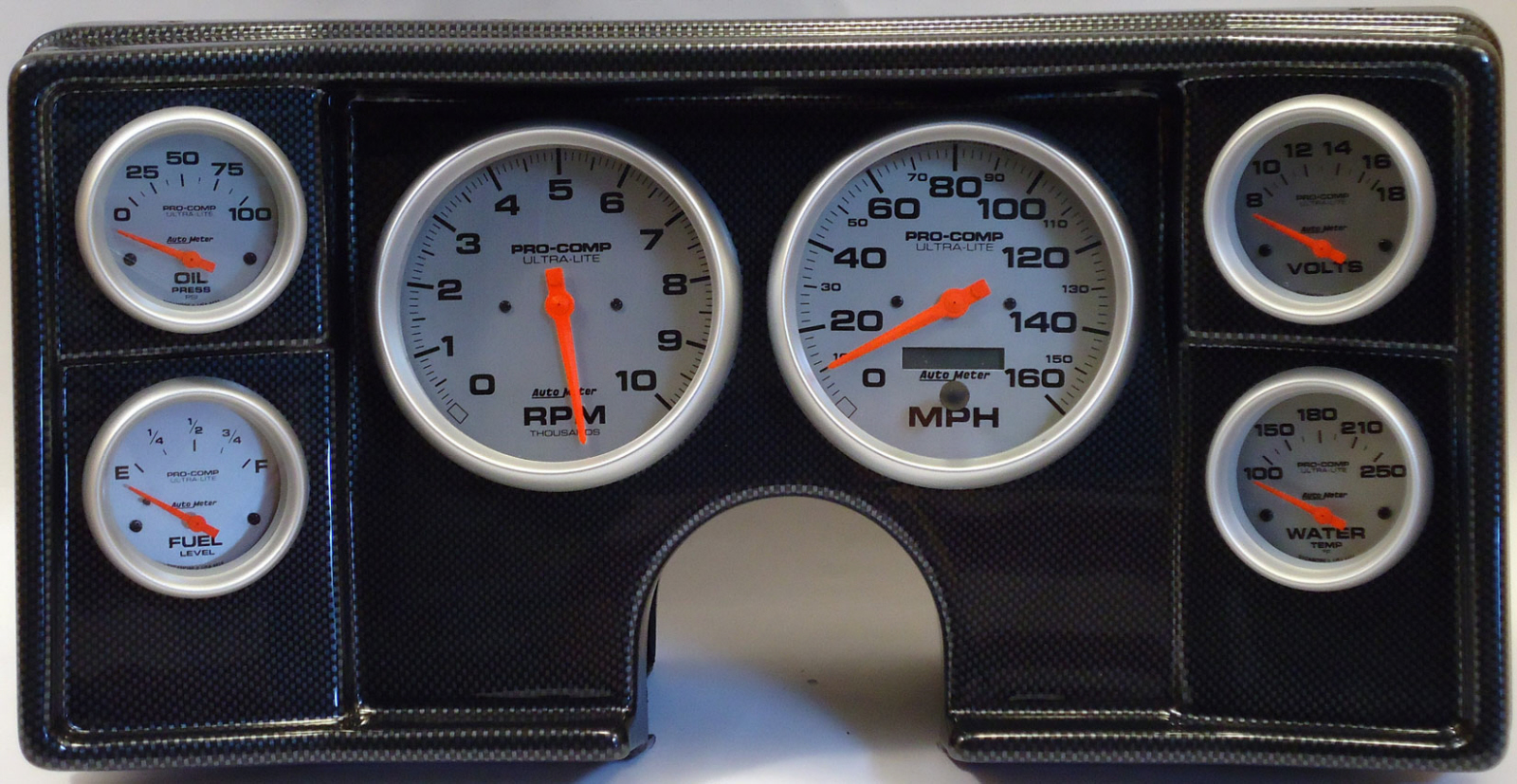 82-88 Chevy G Body Dash Panel w/ Ultra Lite Electric Gauges | 170-82-