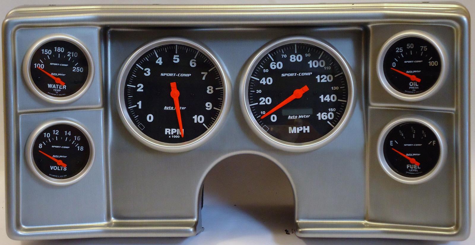 82-88 Chevy G Body Dash Panel w/ Sport Comp Electric Gauges | 170-82-