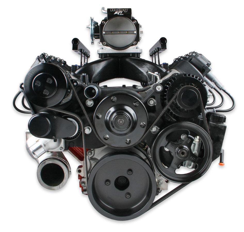 Best Ls1 Engine Upgrades: Holley LSx Serpentine Kit LS1-LS6 - Black Finish