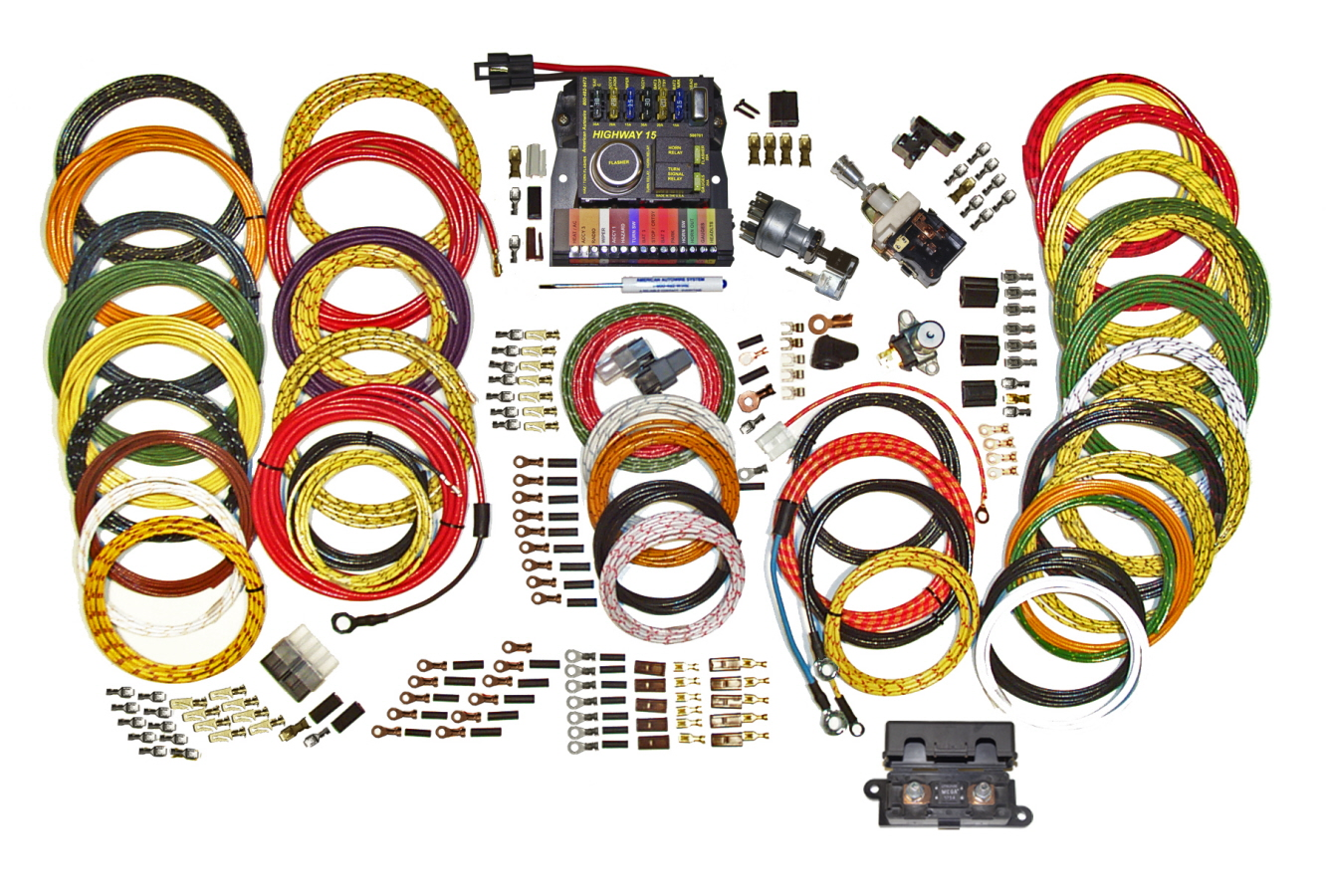 highway 15 nostalgia custom street rod wiring kit 500944 rh mattsclassicbowties com