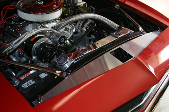 Radiator Filler Panel W Bowtie Chevrolet Script 1ca