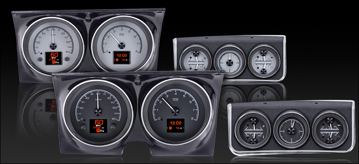 67 Camaro Firebird Hdx Gauge System With Console Gauge