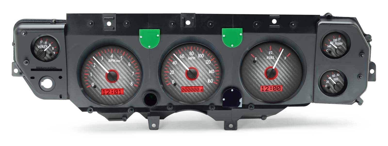 70 72 Ss Dash Conversion Kits From Sweep Style To Round Ls Wiring Harness Radio Kit With Dakota Vhx Gauges