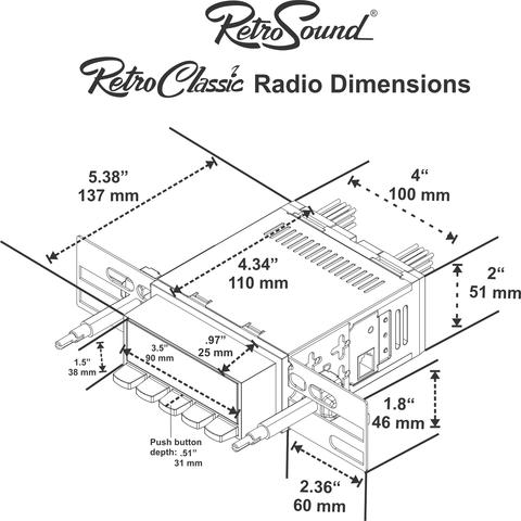 Retrosound Laguna Direct Fit Radio