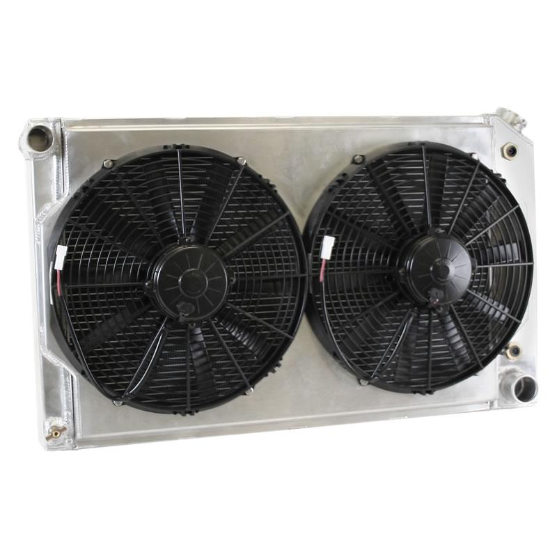 Griffin Aluminum Radiator Package W Fans Ls Swap Cu
