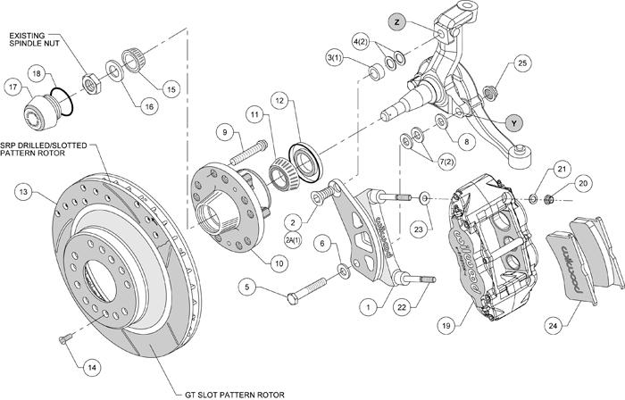 wilwood front disc brake kit 12 88 rotors