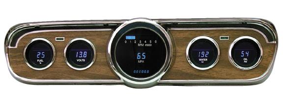 Ford Mustang Parts >> 65-66 Mustang Dakota Digital Dash Woodgrain | VFD3-65M-W