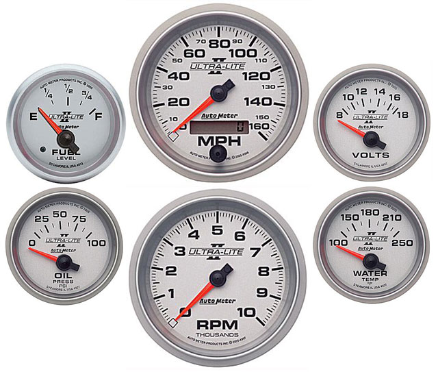 67 Chevelle    El Camino Dash Panel W   Ultra Lite Ii Gauges